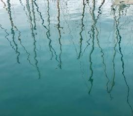 Reflet mats des bateaux de Cassis
